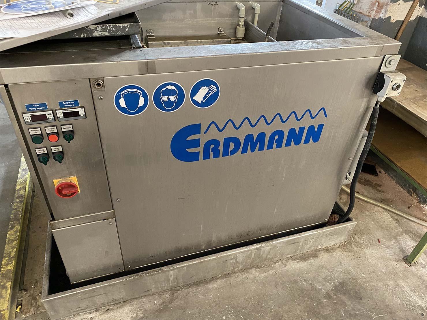 Erdmann Ultraschallreinigungsanlage mit Oberflächenabschwemmung und Filtereinheit